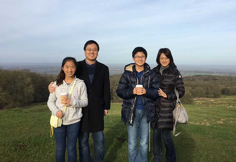 Jae Won Song and family