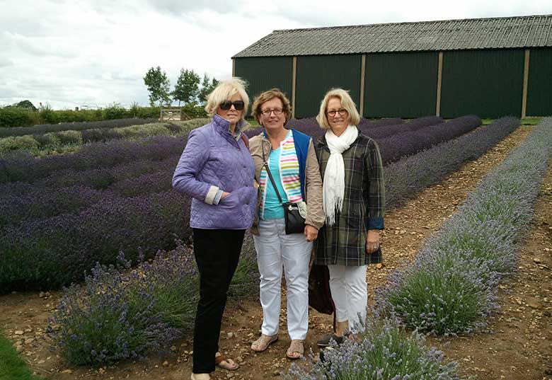 Jackie, Beth and Helen at Cotswold Lavender, Snowshill