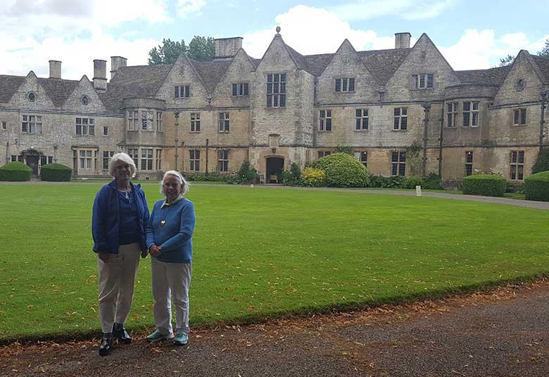 Janet and Lida at Rodmarton Manor