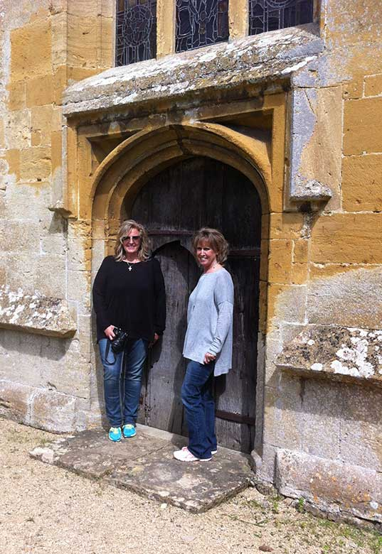 Pattie and Linda at Didbrook Church