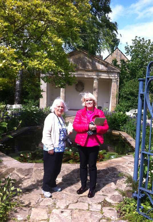 Janet and Lida at Barnsley House