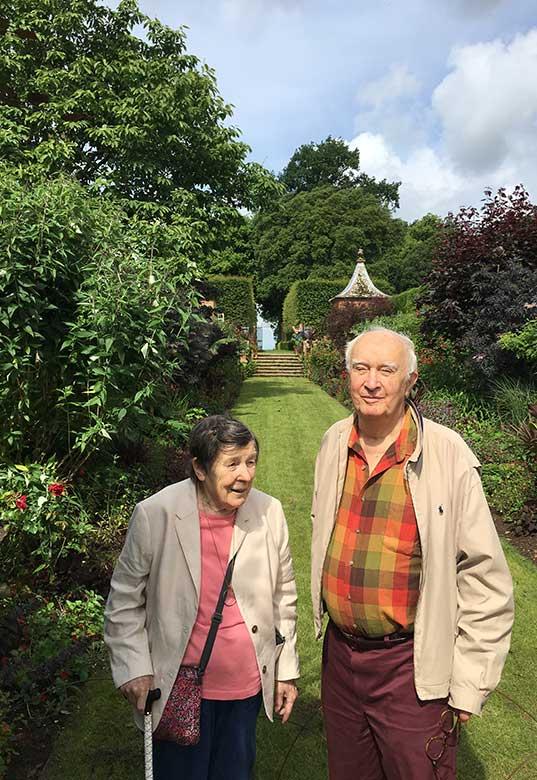 David and Valarie at Hidcote Manor Gardens