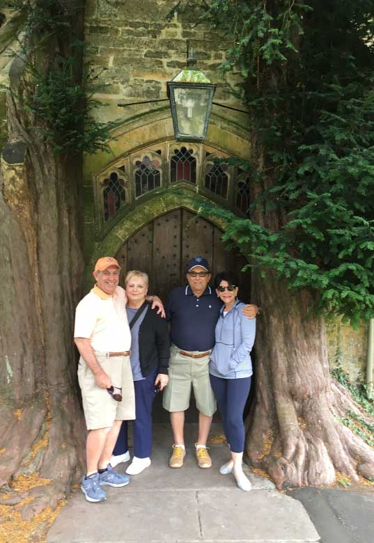 Barry, Beverly, Ian and Ina Stow-on-the-Wold church