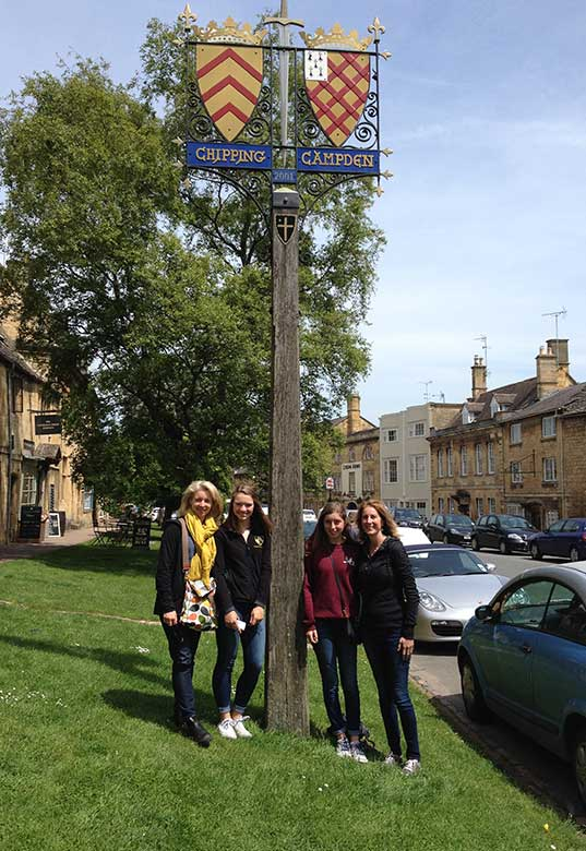 Abra and friends in Chipping Campden