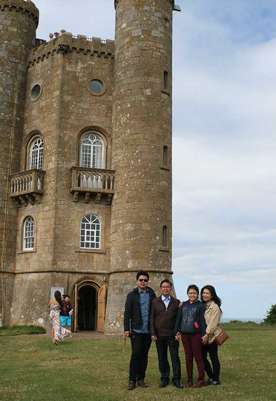 Denny and family at Broadway Tower