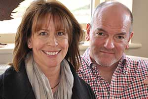 Chris and Ruth Peake, owners of CJP Cotswold Tours