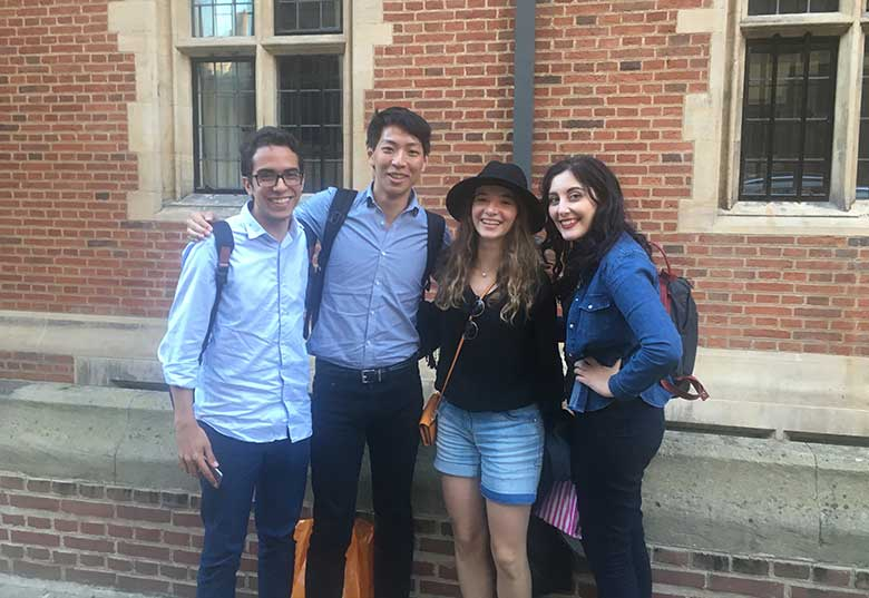 Henry and friends, graduates at Cambridge, after their tour