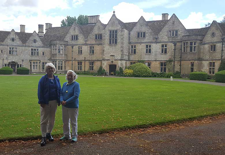 Janet and Lida at Rodmarton Manor