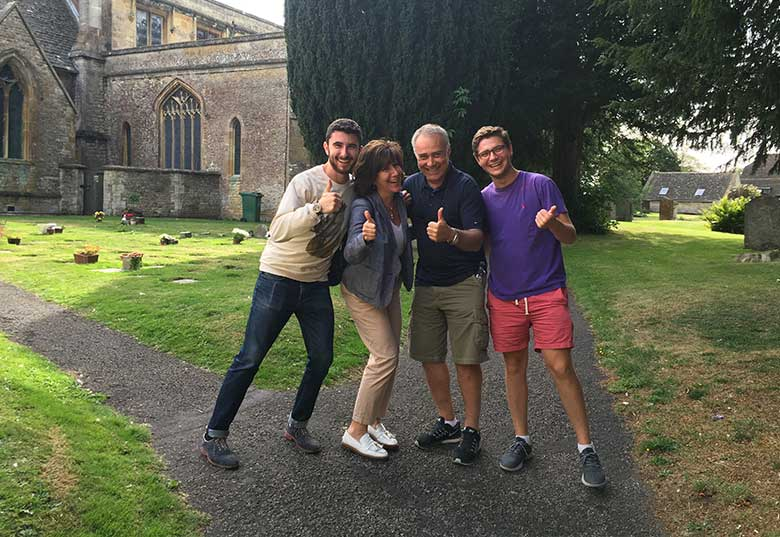 Judith, Dov, Alex and Jonathan - St Edwards Church, Stow-on-the-Wold
