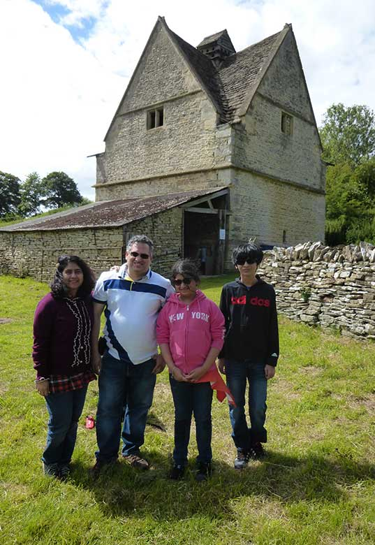 Zubin and family at Naunton Dovecote