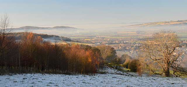 Cotswolds Winter View over the Vale